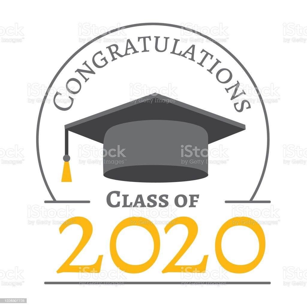 Graduation 2020 2021 Stock Illustration
