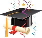 Illustration Graduation and Celebration.