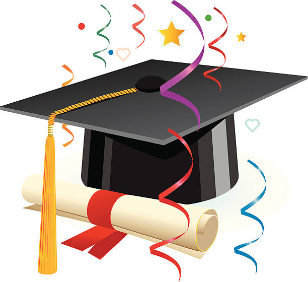 Graduation and Celebration vector art illustration