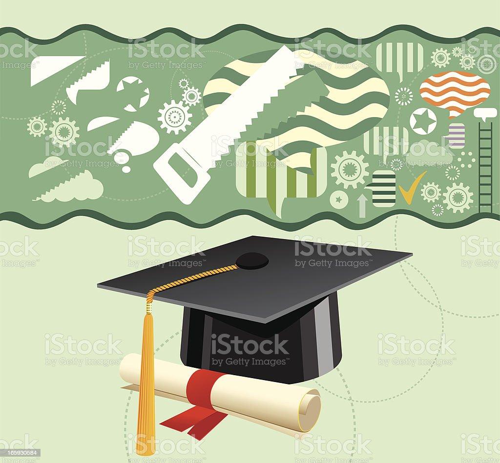 Graduation and Social Community royalty-free stock vector art