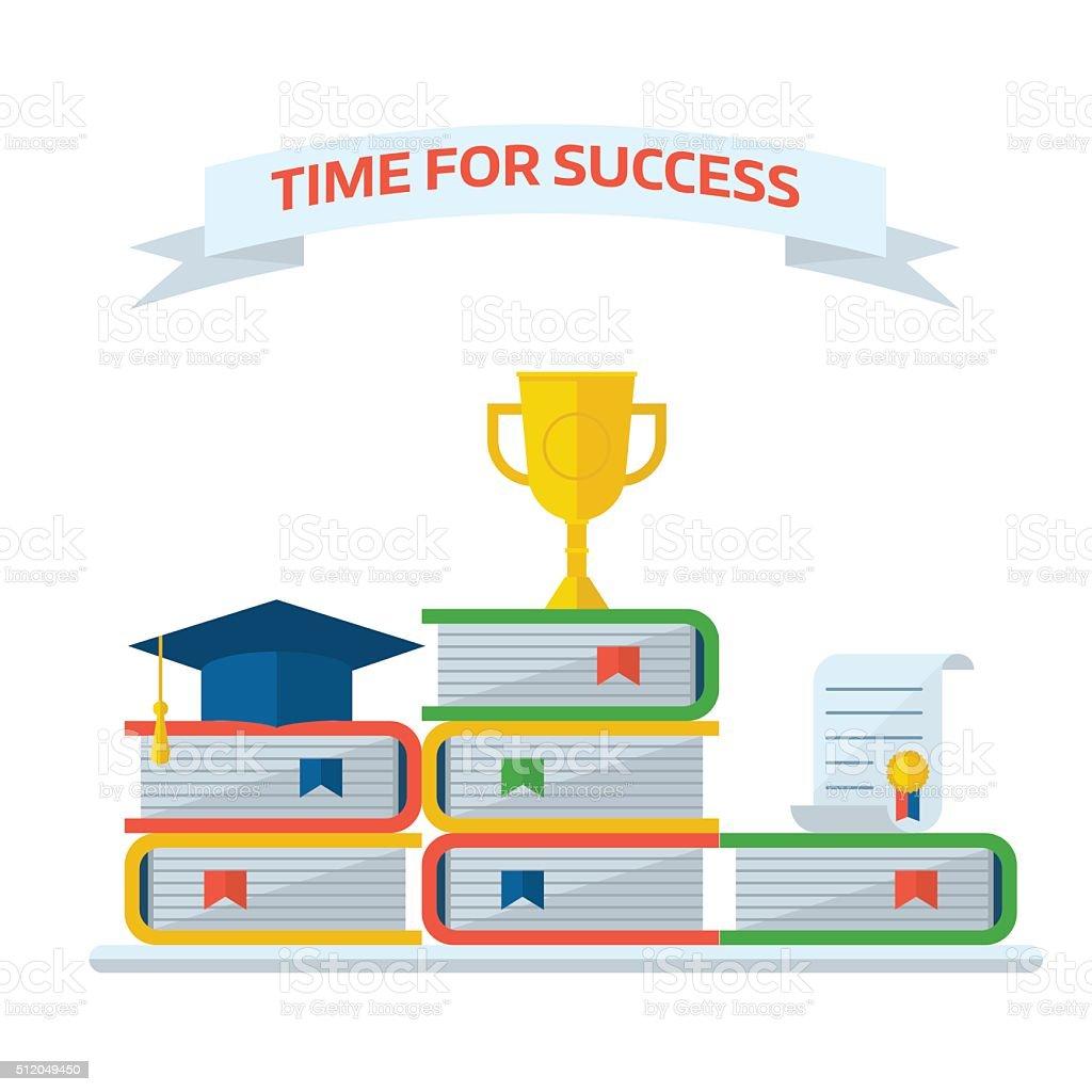 Graduation awards book steps pedestal concept stock vector art graduation awards book steps pedestal concept royalty free graduation awards book steps pedestal concept stock ccuart Choice Image