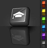 graduation cap 3D button designs