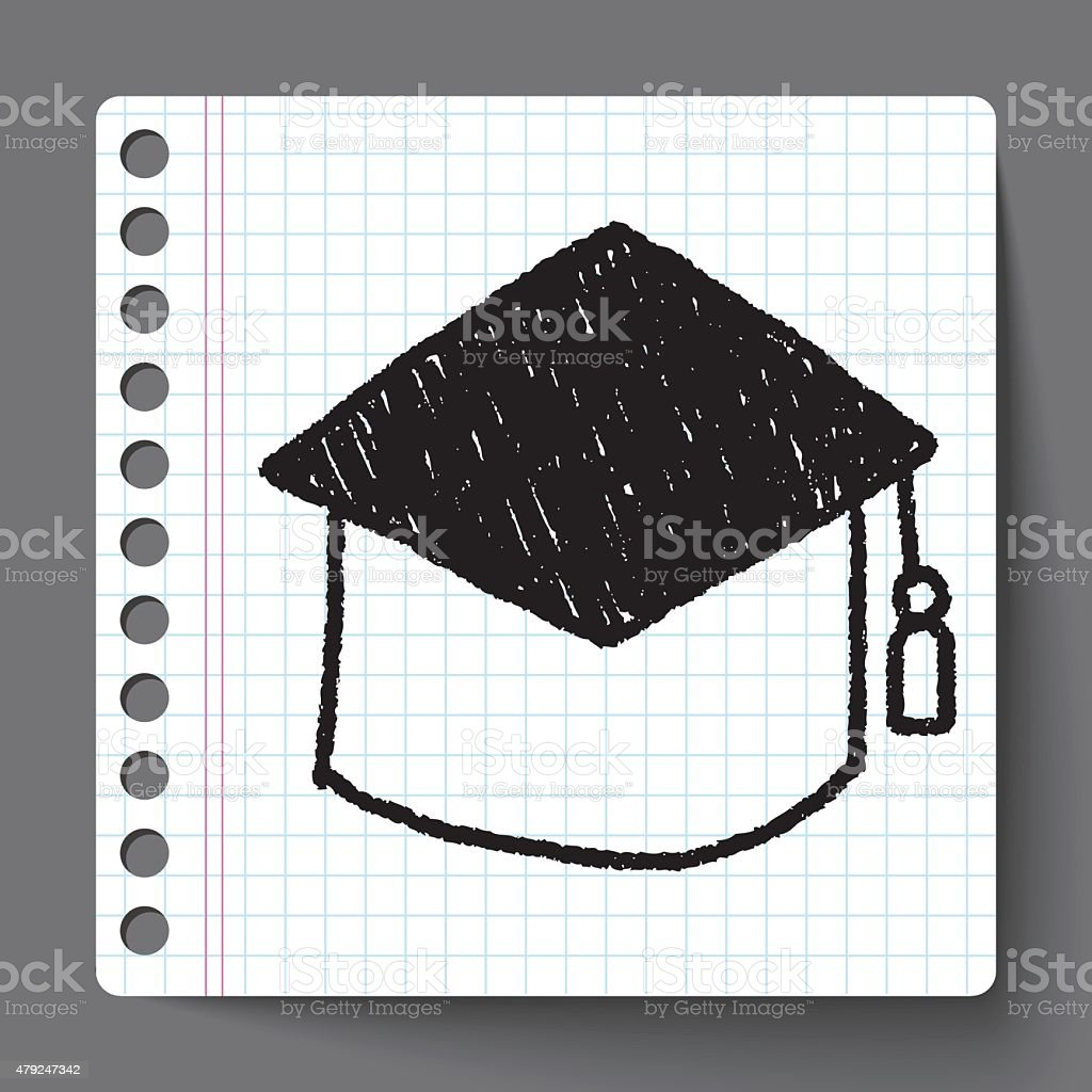 Graduation Cap Doodle Drawing Stock Vector Art & More Images