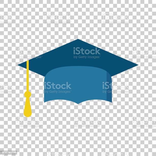 Afstuderen Glb Platte Ontwerp Pictogram Afwerking Onderwijs Symbool Graduatie Dag Viering Element Vectorillustratie Op Geïsoleerde Achtergrond Stockvectorkunst en meer beelden van Alumnus