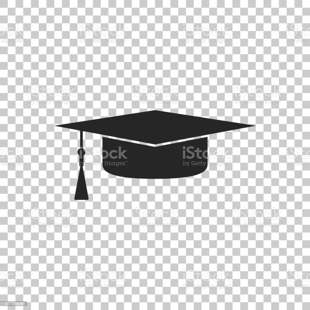 84dddffb8 Graduation Cap Icon Isolated On Transparent Background Graduation ...