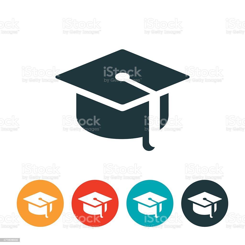 Graduation Cap Icon vector art illustration