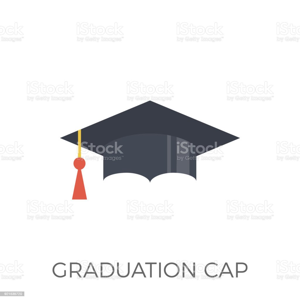 Graduation Cap Icon Vector vector art illustration