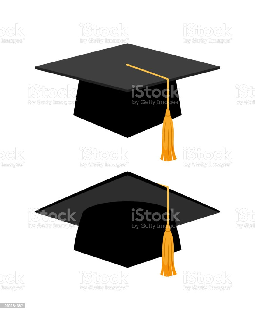 Graduation cap on white background royalty-free graduation cap on white background stock illustration - download image now