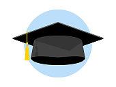 Graduation Cap Vector Icon Illustration