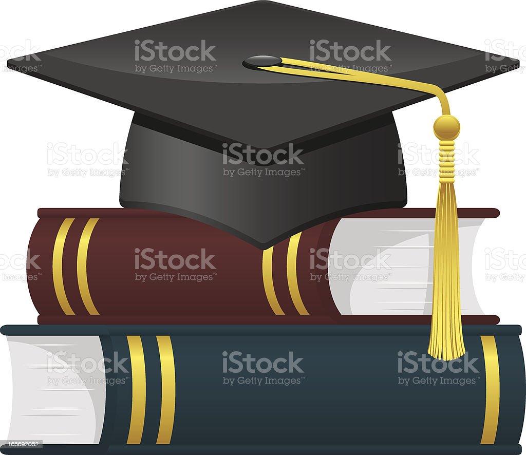 Graduation cap vector art illustration