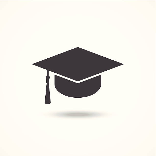 Graduation cap vector art illustration