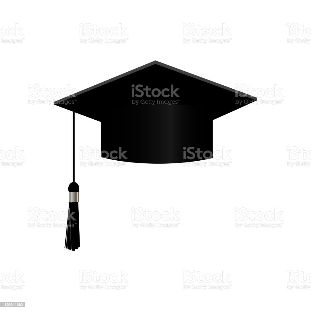 graduation cap vector illustration isolated on white square bachelor rh istockphoto com vector graduation cap free graduation cap vector download