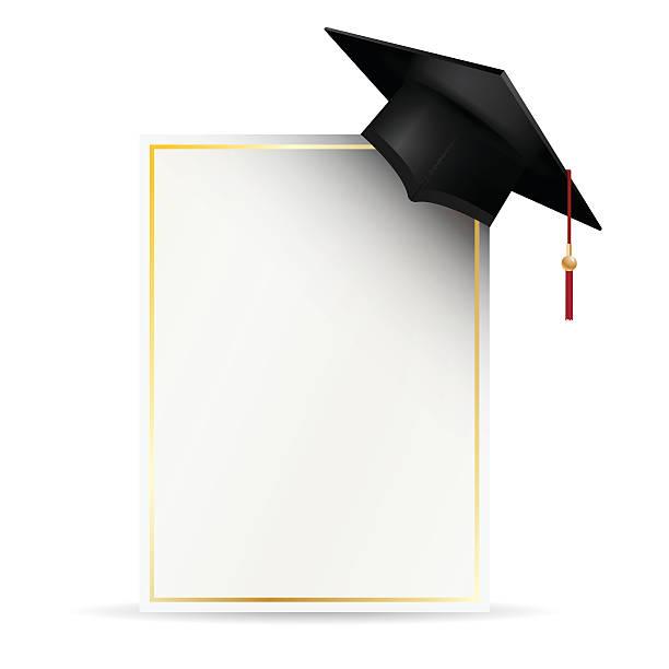 Graduation Cap Invitation Clip Art Vector Images Illustrations – Graduation Cap Invitation