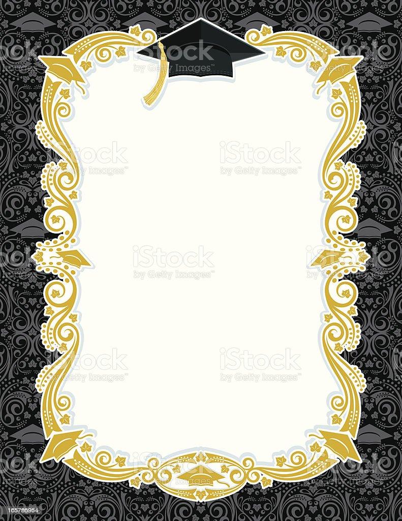 Tarjeta de graduación - ilustración de arte vectorial