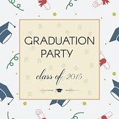 Graduation Celebrating Invitation or Postcard Background