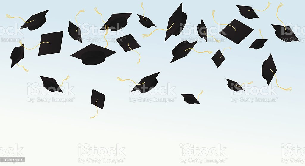 Graduation Celebration vector art illustration