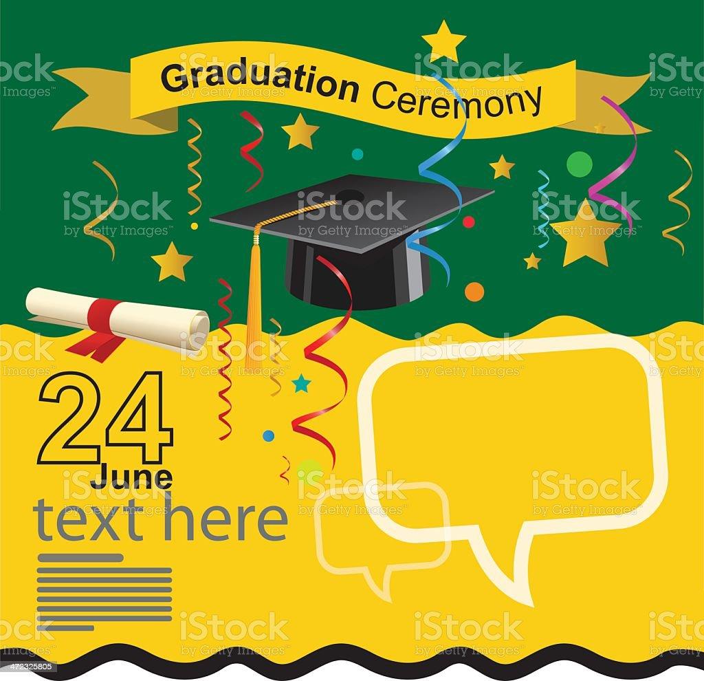 Graduation ceremony invitation royalty-free graduation ceremony invitation stock vector art & more images of achievement