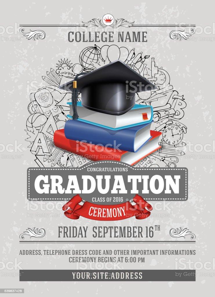 Cérémonie de remise des diplômes  - Illustration vectorielle