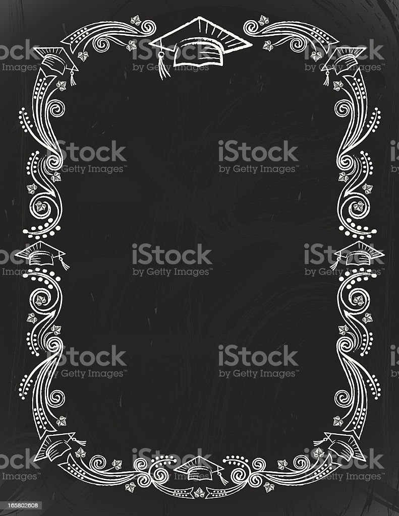 graduation chalkboard card stock vector art more images of