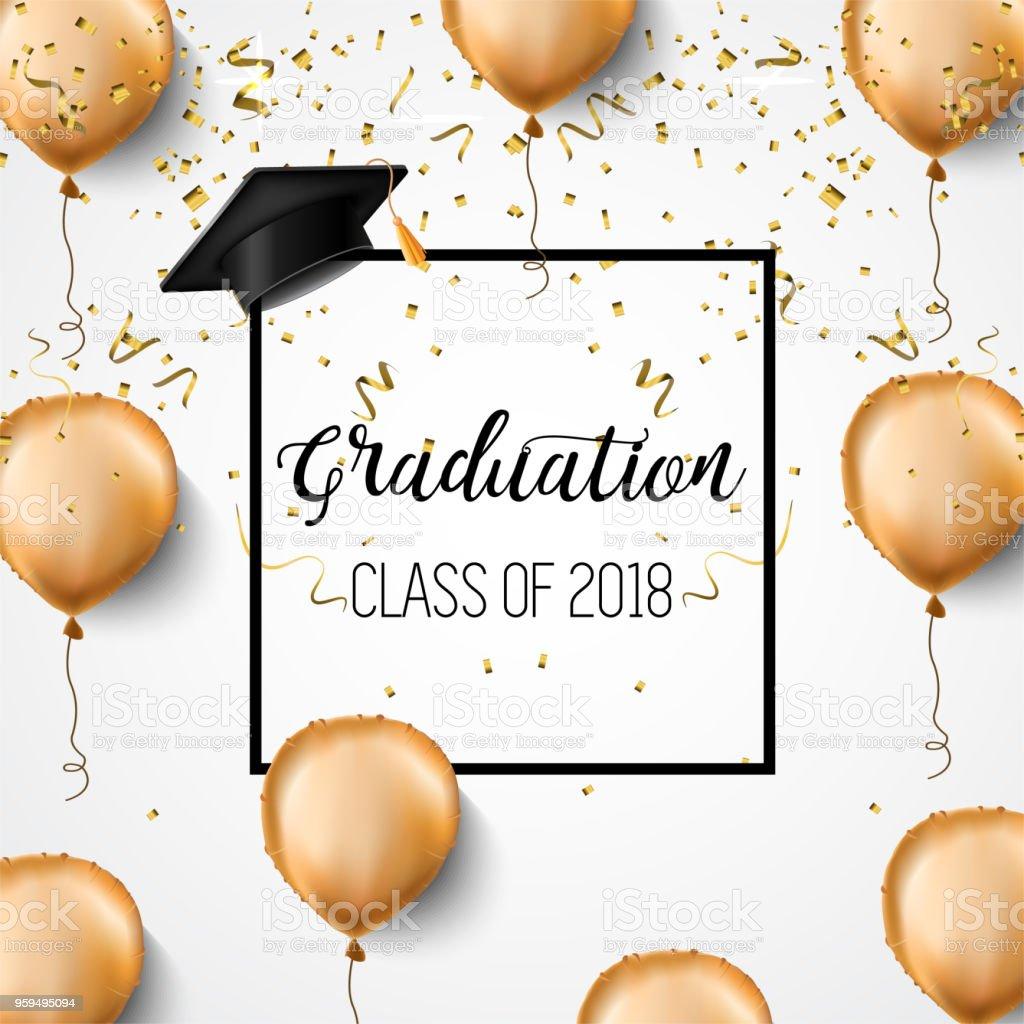 graduation class of 2018 congratulations graduates academic hats