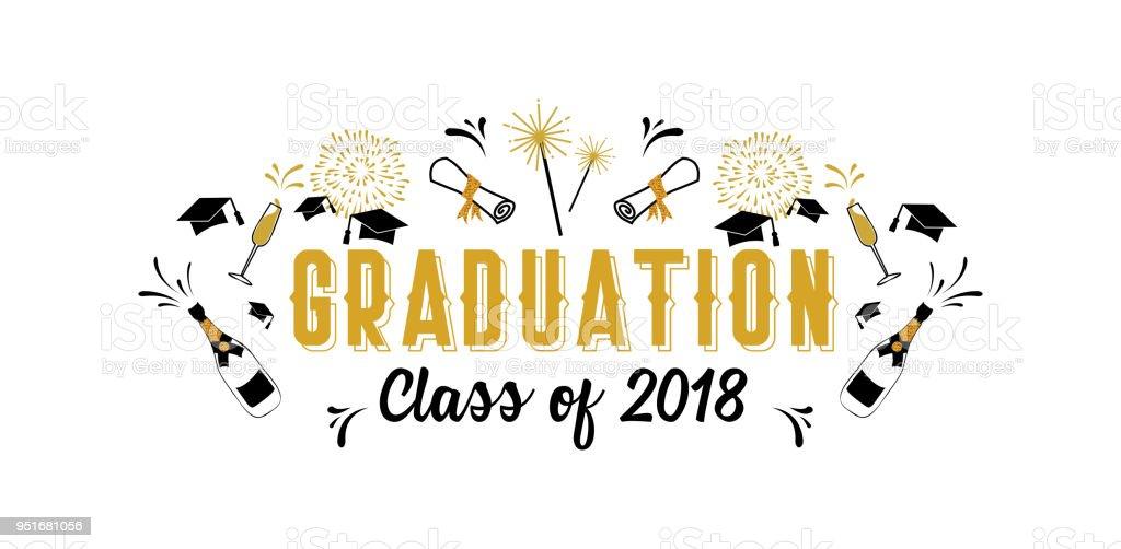 Classe De Graduation Des Cartes De Voeux De 2018 Et Modele Dinvitation Invitation A Vecteur Affiche De Grad Vecteurs Libres De Droits Et Plus D Images Vectorielles De Carte De Voeux Et D Anniversaire