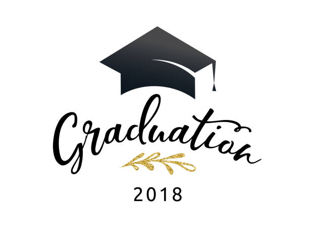 Graduation Class of 2018, party invitations, posters, banner vector art illustration