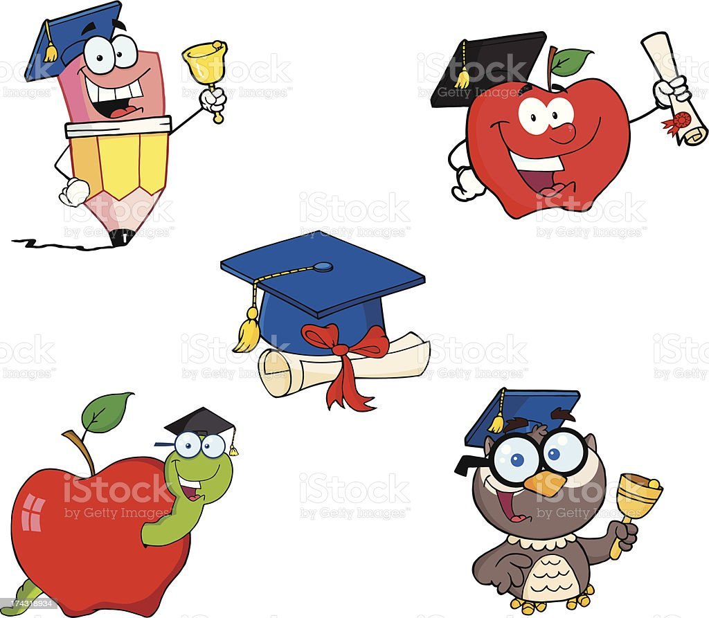 Graduation Collection royalty-free graduation collection stock vector art & more images of apple - fruit