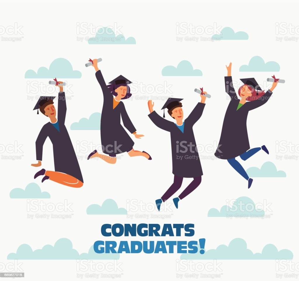 Graduation concept vector art illustration