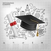 graduation concept vector illustration infographics