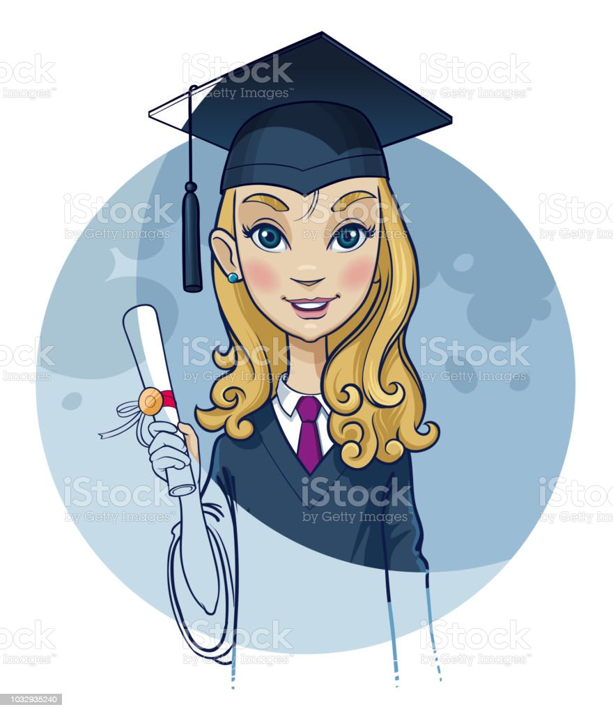 Graduation day celebration vector art illustration