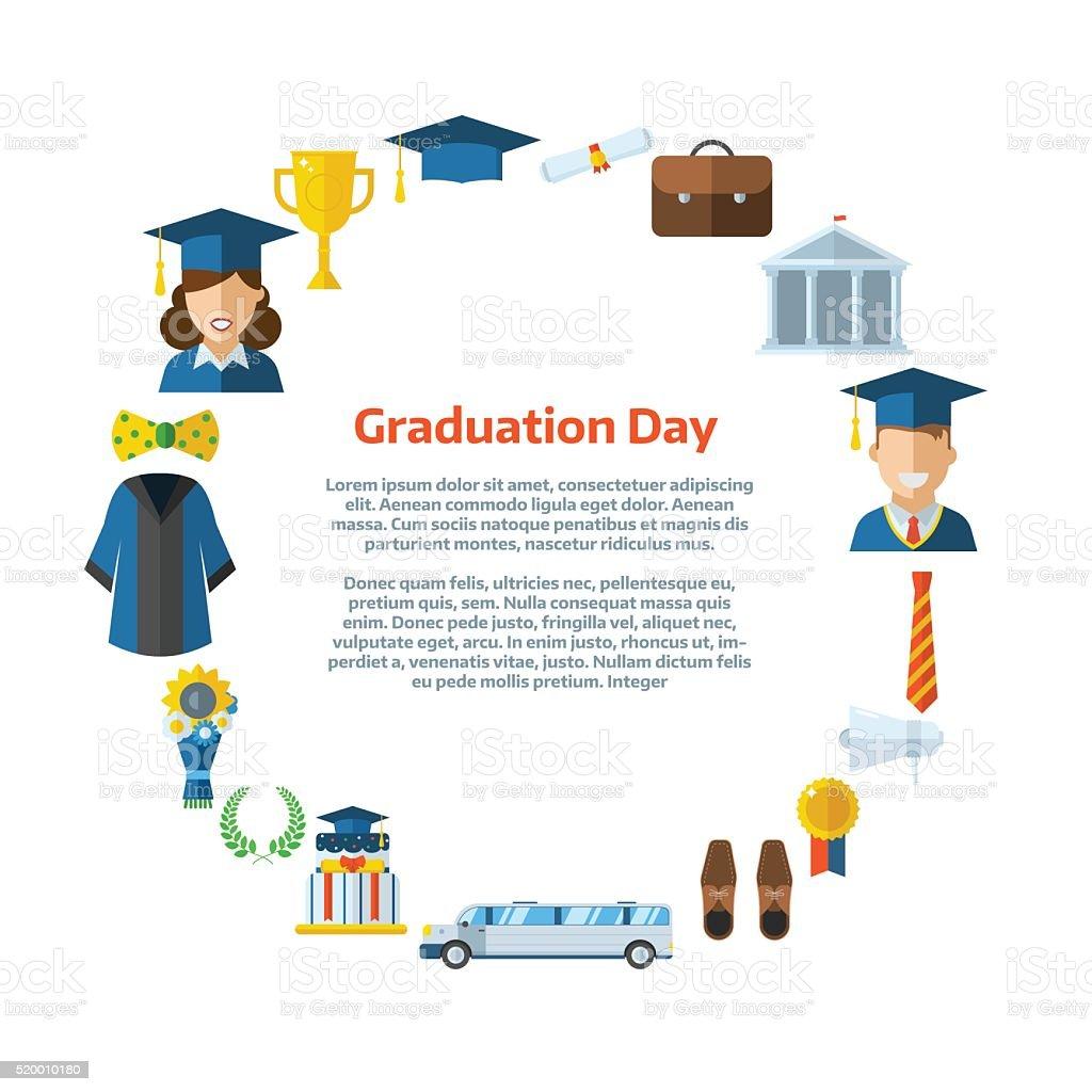 graduation day certification ceremony template stock vector art