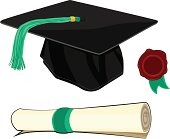 This group of objects is ideal for graduation/education concepts.