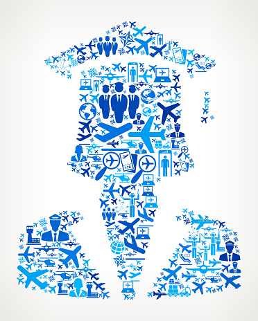 Graduation Face  Aviation and Air Planes Vector Graphic