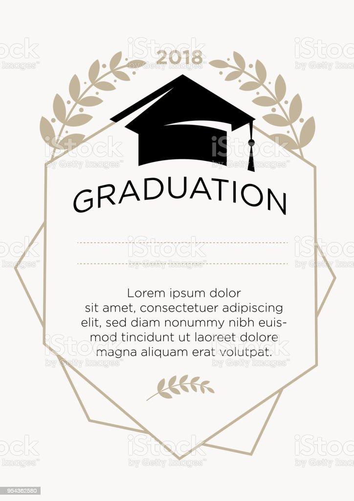 Graduation greeting card stock vector art more images of 2018 graduation greeting card royalty free graduation greeting card stock vector art amp more m4hsunfo