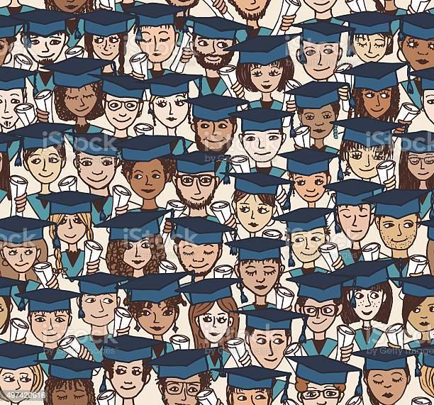 Graduation hand drawn seamless pattern in colour vector id497420616?b=1&k=6&m=497420616&s=612x612&h=oddhzvpd6r0elnxjlcnox3f96condytlmguruejd29i=