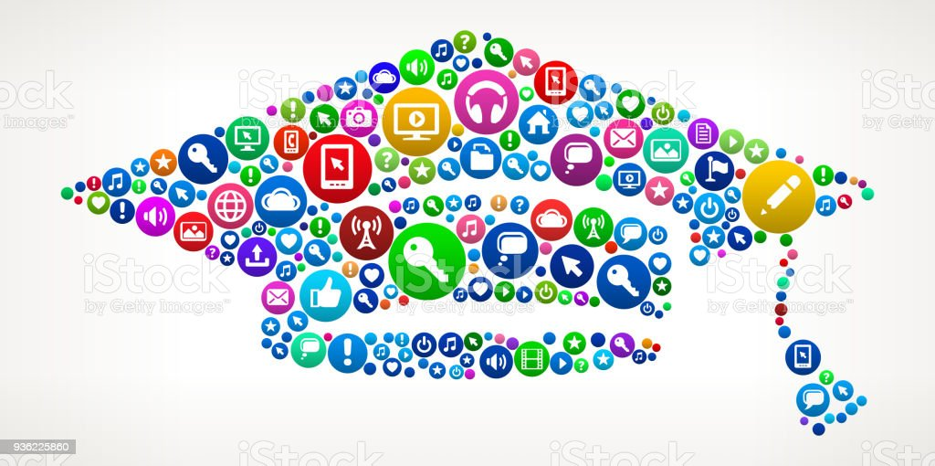 Ilustración de Internet Comunicación Tecnología Icono Patrón De ...