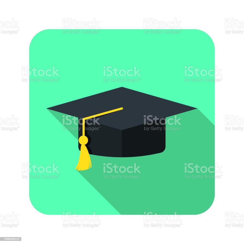 sombrero de graduación - ilustración de arte vectorial