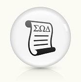 Graduation icon on white round vector button