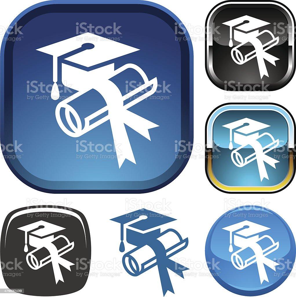 Graduation icon royalty-free stock vector art