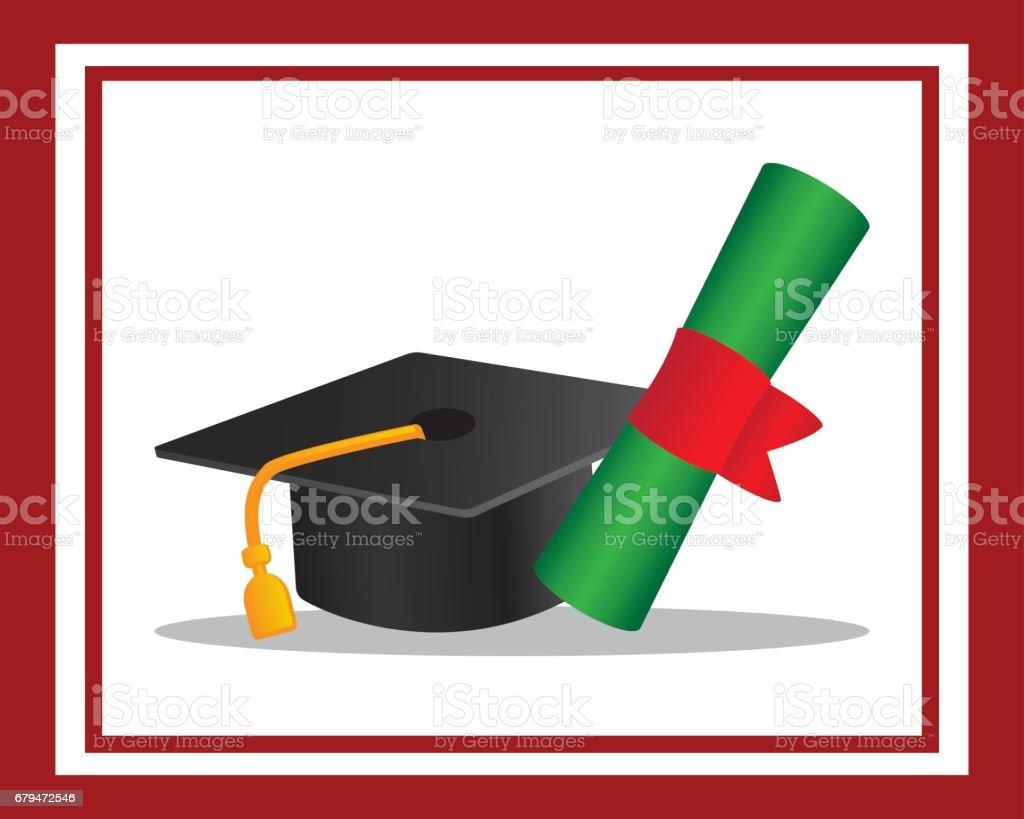 在框架中畢業圖 免版稅 在框架中畢業圖 向量插圖及更多 典禮 圖片