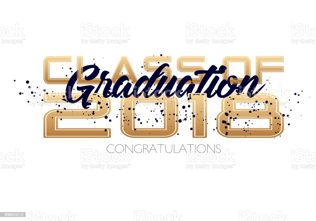 Abschlusslabel Vektortext Für Graduierung Design Gratulation Event ...