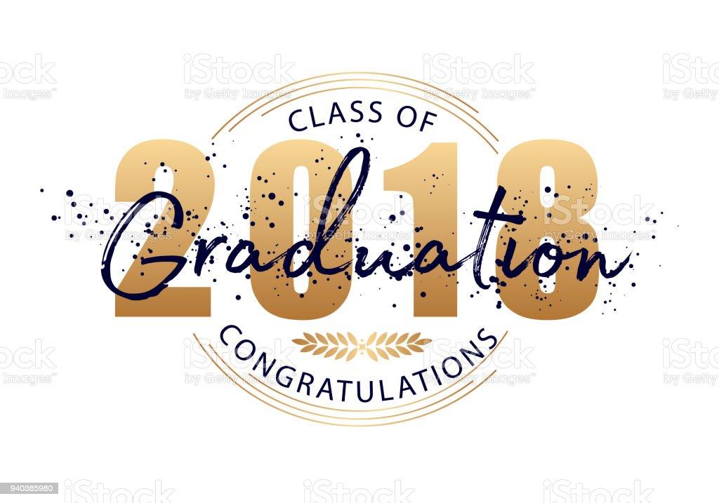 Graduation label vector text for graduation design congratulation graduation label vector text for graduation design congratulation event party high school stopboris Images