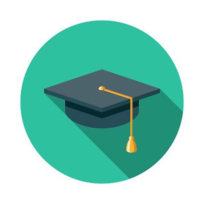 Graduation Mortarboard E-Learning Icon