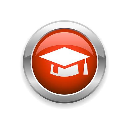 Graduation Mortarboard Glossy Icon