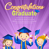 Illustration template for graduation messages.