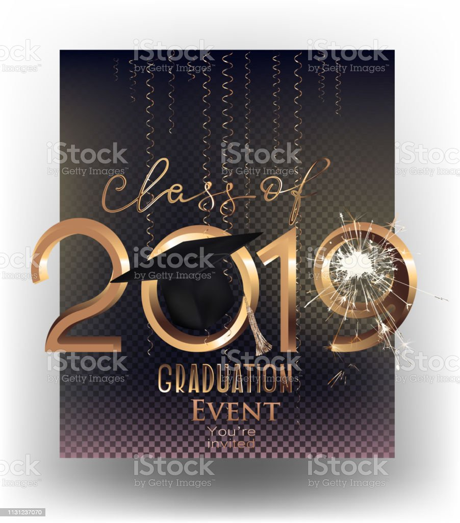 Ilustración De Fiesta De Graduación 2019 Tarjeta De