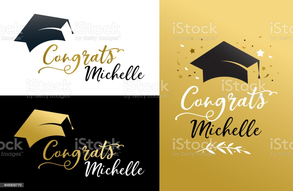 graduation party invitations posters greeting card banner stock