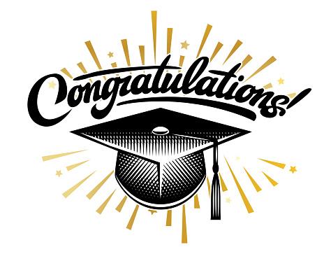 Graduation vector Class. Congrats grad Congratulations Graduate