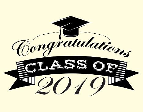 Graduation vector Class of 2019 Congrats grad Congratulations Graduate.