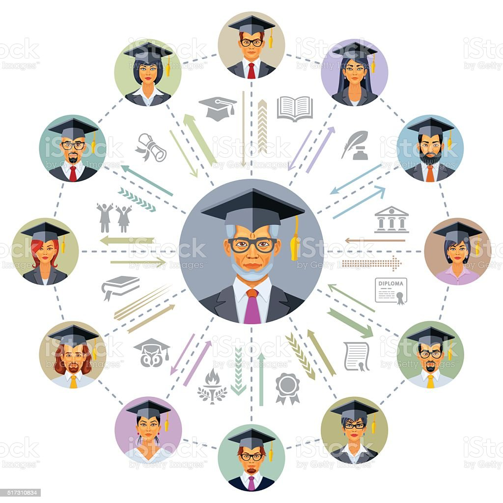 Graduation vector art illustration